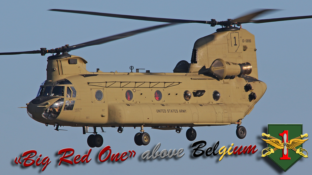 Big Red One above Belgium